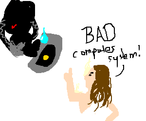Jesus has come back, to teach GLaDOS a lesson!