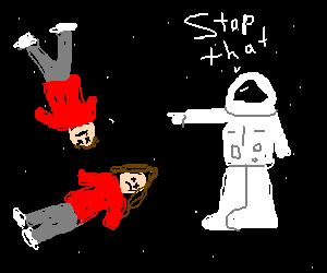Twin bro and sis are in space and told to stop