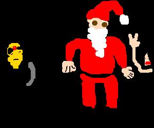 Santa w/ Asian stereotypes.