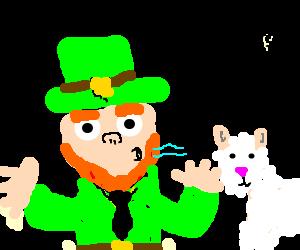 Leprechaun blows a Sheep