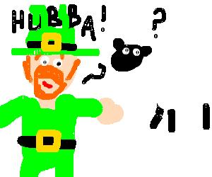 A leper haun tries to score a sheep