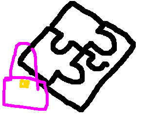 puzzle with a purse