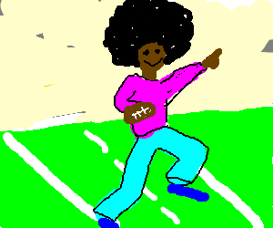Superfly Black guy running for the touchdown!