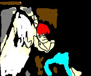 ginger puts bathtub in the closet