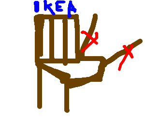 incorrectly assembled ikea chair