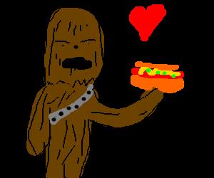 Chewbacca's favorite food