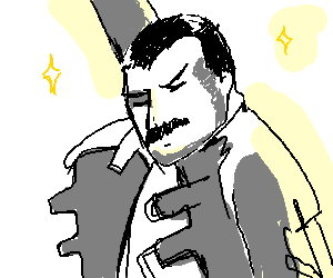 Freddie mercury fist pump