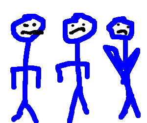 Blue man group not amused