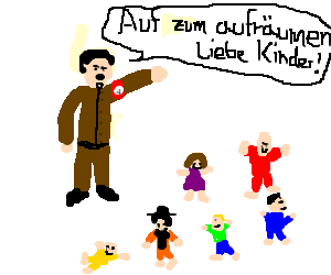 Hitler decided to teach kindergarten class