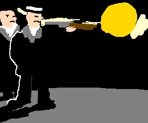 Gangsters do not observe proper firearm safety