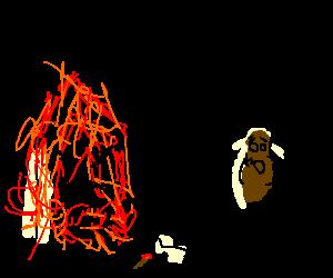 Burnin home wants Arsonist 2 die. Poop is aghast