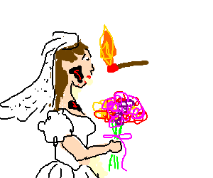 weddings with burned bride