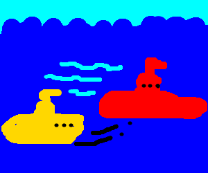 The Yellow Submarine hunts the Red October - Drawception