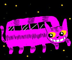 Pink cat wagon