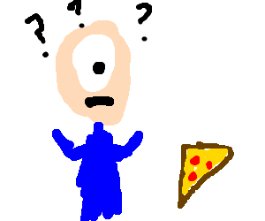 alien cyclops doesn't understand pizza