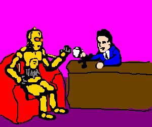 C3PO in a talk show