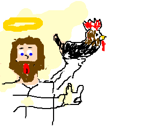 Jesus Rocks Out With His Cock Out.