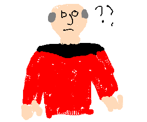 Picard is rather nonplussed at something