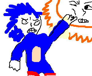 sonic hitting the sun