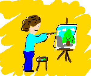 Bob Ross paints a happy tree