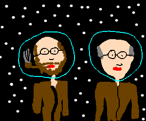 Two famous german psychologists in space