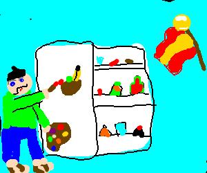 refrigerator art in spain