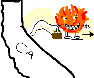 Happy flames come from California