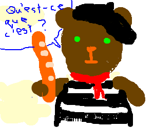 Bear speaks French
