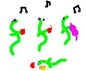 drunk worm at party