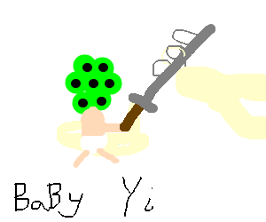 league of legends baby wields sword