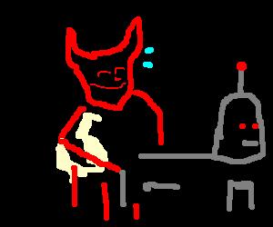 Satan sodomizing a robot