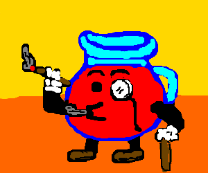 An accomplished Kool Aid man.