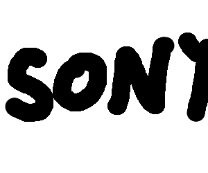 Crudely drawn Sony logo