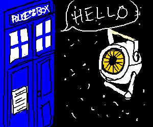 The Tardis meets Space Core