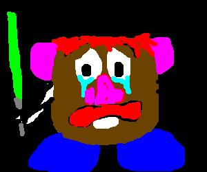 Crying redheaded potato-faced jedi