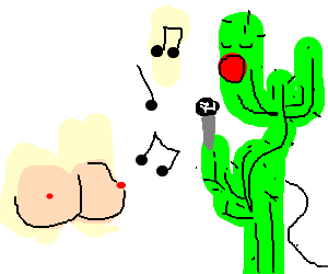 cactus singing to titty
