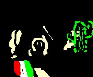 Italian mersanary .vs a cactus
