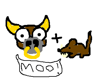 A mooing cow rat
