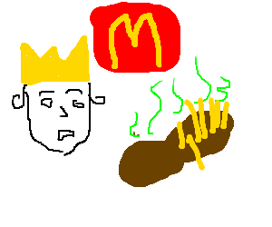 burger king turns into king of poop french fries