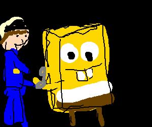 Spongebob gets arrested.
