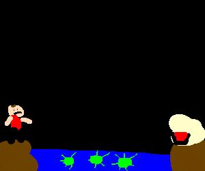 Puddin Pod mines & sea prevent man getting jello