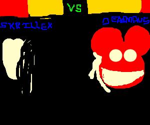 fighting game featuring skrillex vs deadmau5