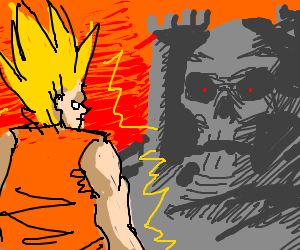 Goku find the Grayskull castle