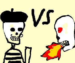 French Skeleton vs Hellfire Skeleton