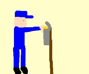 Postman puts cheese in the postbox