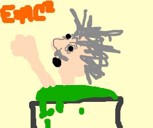 Einstein in acid.