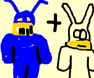 The Tick and his sidekick, Arthur