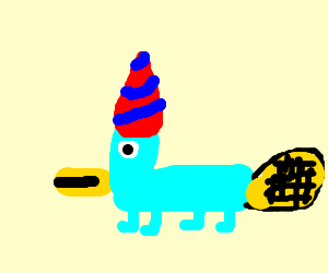 platypus with a party hat