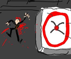 Stuntman misses airbag