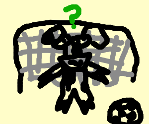 Confused cow goalie